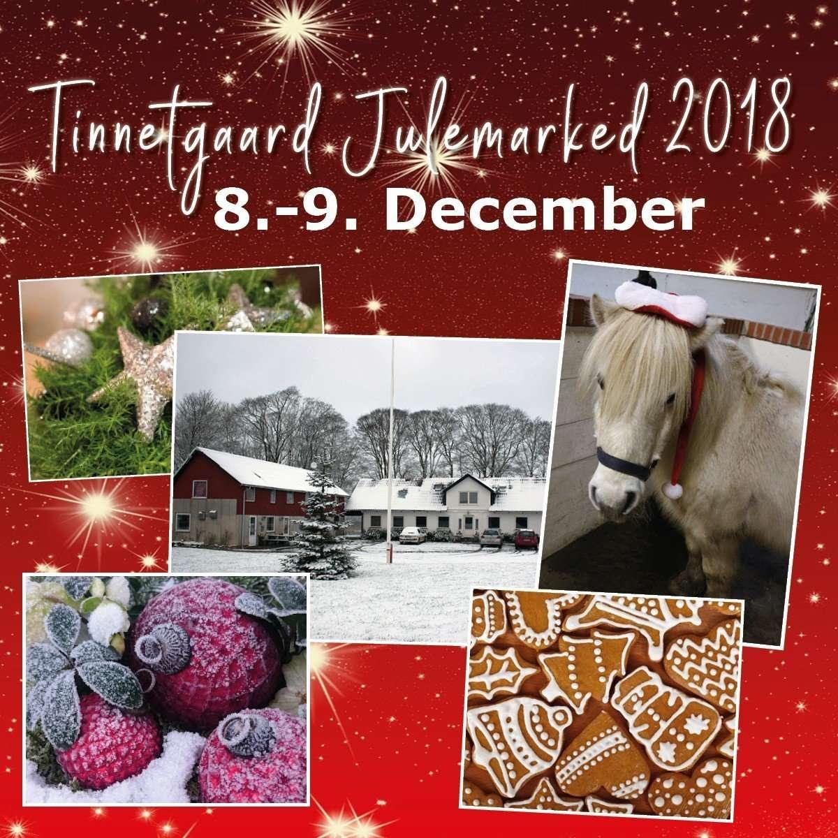 Kom til julemarked på Tinnetgaard 8.-9. December