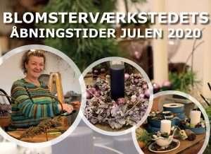 Åbningstider i blomsterværkstedet julen 2020